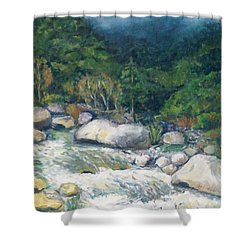 Kaweah River Shower Curtain
