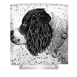 Kaya Wood Carving Filter Shower Curtain by Steve Harrington