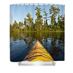 Kayak Adventure Bwca Shower Curtain by Steve Gadomski