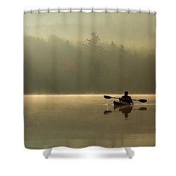 Kayaking At Sunup Shower Curtain