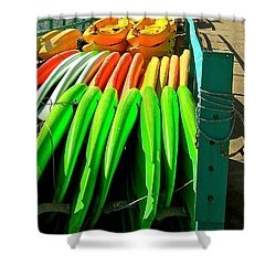 Kayaks And Paddleboards Shower Curtain