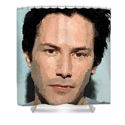 Keanu Reeves Portrait Shower Curtain