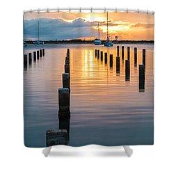 Keehi Harbor Sunset 1 Shower Curtain