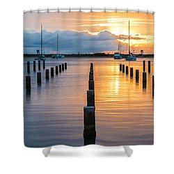 Keehi Harbor Sunset 2 Shower Curtain