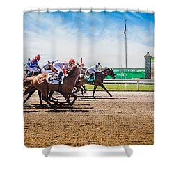 Keeneland Racing Shower Curtain by Keith Allen