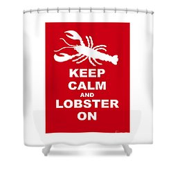 Keep Clam And Lobster On Shower Curtain by Julie Knapp