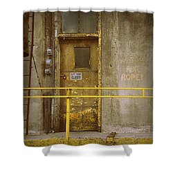 Shower Curtain featuring the photograph Keep Door Closed by Joseph Skompski