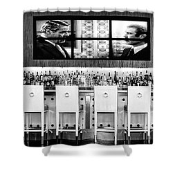 Keep Drinking Men  Palm Springs Shower Curtain by William Dey