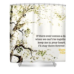 Shower Curtain featuring the digital art Keep Me In Your Heart by Nancy Ingersoll