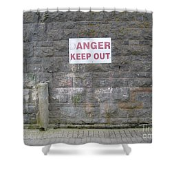 Keep Out Aran Islands Ireland Shower Curtain