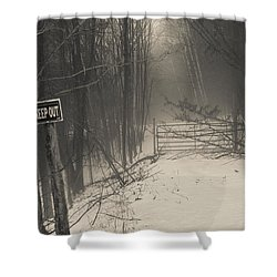 Keep Out Shower Curtain by Bill Pevlor