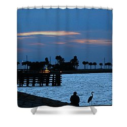 Keeping Watch Shower Curtain by Robin Lewis