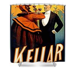 Kellar Toasts The Devil Shower Curtain by Terry Reynoldson