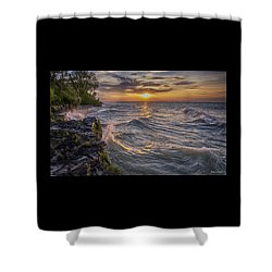 Kelleys Island At Sunset Shower Curtain