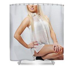 Kellie8 Shower Curtain by Yhun Suarez