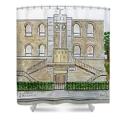 Kelly Temple Church In East Harlem Shower Curtain