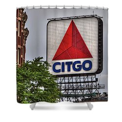Kenmore Square And The Citgo Sign Shower Curtain by Joann Vitali