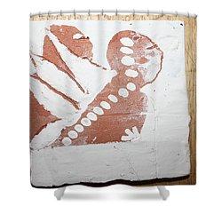 Kenna - Tile Shower Curtain by Gloria Ssali
