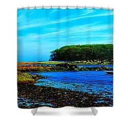 Shower Curtain featuring the photograph Kennepunkport Vaughn Island  by Tom Jelen