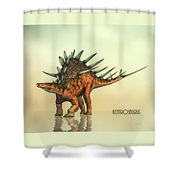 Kentrosaurus Dinosaur Shower Curtain by Bob Orsillo