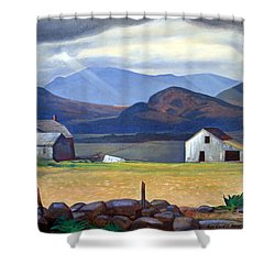 Kent's Adirondacks Shower Curtain by Cora Wandel