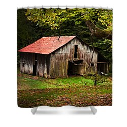 Kentucky Barn Shower Curtain by Lena Auxier