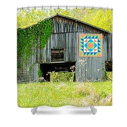 Kentucky Barn Quilt - Thunder And Lightening Shower Curtain
