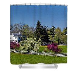 Kentucky Horse Farm Shower Curtain