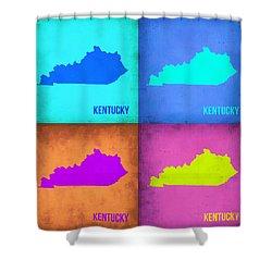 Kentucky Pop Art Map 1 Shower Curtain by Naxart Studio