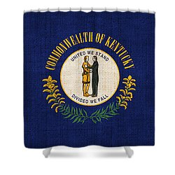 Kentucky State Flag Shower Curtain by Pixel Chimp