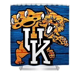 Kentucky Wildcats Barn Door Shower Curtain