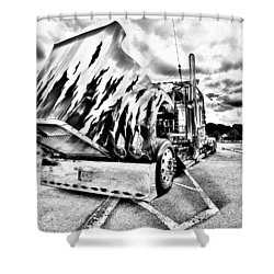 Kenworth Rig Shower Curtain