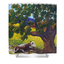 Kern County Cow Shower Curtain