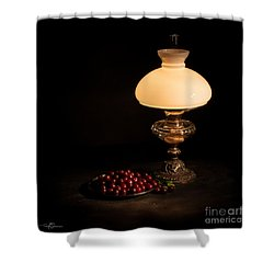 Kerosene Lamp Shower Curtain by Torbjorn Swenelius