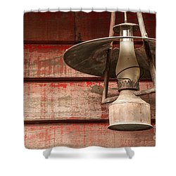 Kerosene Lantern Shower Curtain by Carlos Caetano