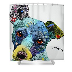 Shower Curtain featuring the painting Jack by Luis Ludzska