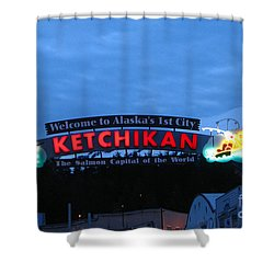 Ketchikan Shower Curtain by Robert Bales