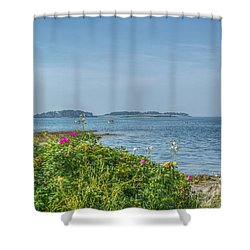 Shower Curtain featuring the photograph Kettle Cove by Jane Luxton
