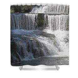 Keuka Seneca Waterfall Shower Curtain by William Norton
