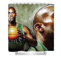 Kevin Garnett Artwork 1 Shower Curtain by Sheraz A