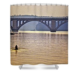 Key Bridge Rower Shower Curtain