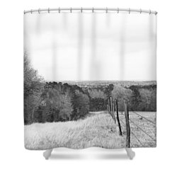 Key Hill 2 Black And White Shower Curtain