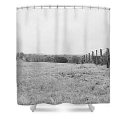 Key Hill 3 Black And White Shower Curtain