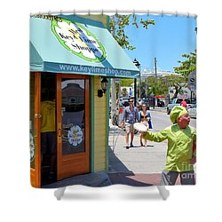 Key Lime Pie Man In Key West Shower Curtain