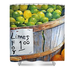 Key Limes Ten For A Dollar Shower Curtain