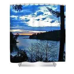 Key Peninsula Shower Curtain by Floria Varnoos