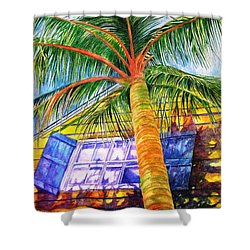 Key West Cat On A Hot Tin Roof Shower Curtain