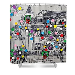 Key West Christmas Shower Curtain