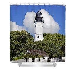 Key West Lighthouse Shower Curtain by John Stephens