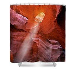 Keyhole Light Shower Curtain by Inge Johnsson